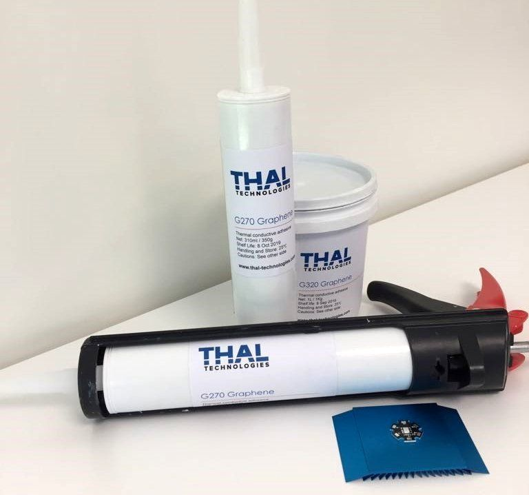 thermal conductive glue with graphene filler
